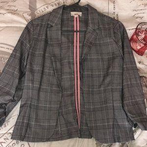 Women's plaid blazer jacket